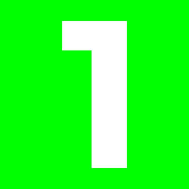 De grafische 'EEN' op een groene achtergrond