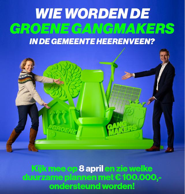 Bekendmaking Groene Gangmakers 8 april